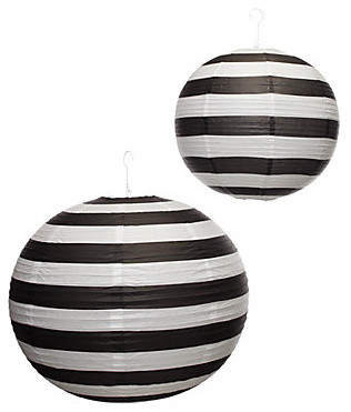 Paper Lanterns, Black And White Stripe by Z Gallerie eclectic accessories and decor