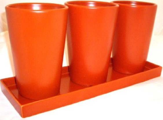 Plant Pots With Runoff Tray By Red Envelope Contemporary