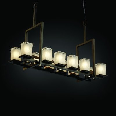 Justice Design Group Veneto Luce GLA-8619-26-WTFR-DBRZ Montana 12-up and 5-Downl modern-chandeliers