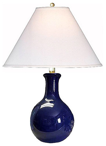 Walmart.com: Ceramic Table Lamp, Navy Finish: Decor ...