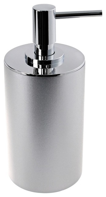 Luxury Silver Free Standing Soap Dispenser Modern Bath And Spa Accessories Other Metro