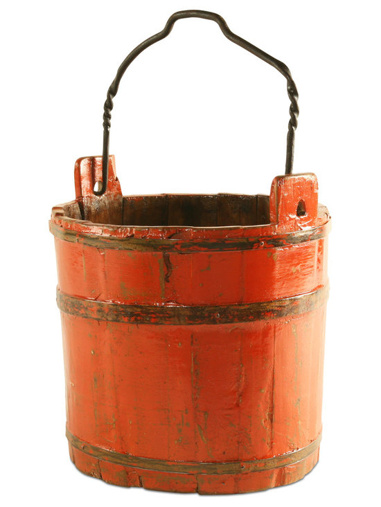 Belle & June Vintage - Add a rustic charm and style to your home's decor with one of our handcrafted vintage water buckets. Each one is exquisitely unique and made using repurposed wood. Use one of these buckets to store away household items or use as a plantholder in a den, on a patio, or anywhere in your home!