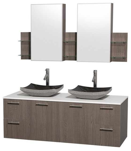 Amare Wall Mounted Bathroom Vanities Sets contemporary bathroom vanities and sink consoles