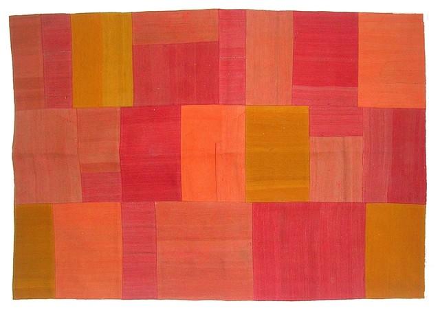 Volkan Vintage Patchwork Kilim eclectic-rugs