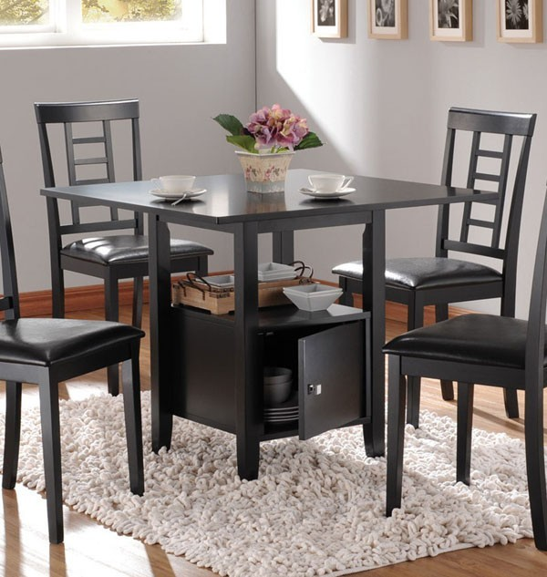 Dining Table Bench With Storage: Drew Black Dining Table With Storage