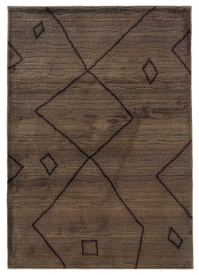 "Tribal Indoor Area Rug - 2'7"" x 10' traditional-area-rugs"
