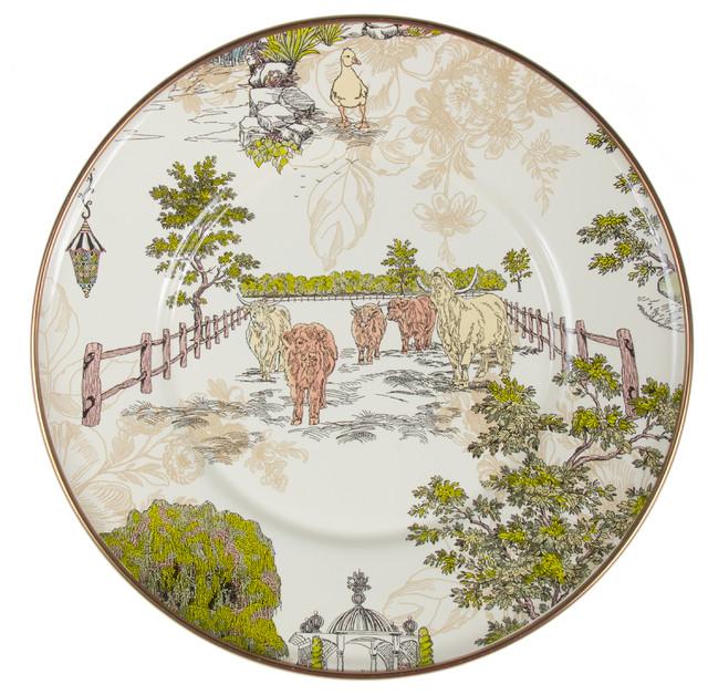 Aurora Enamel Salad/Dessert Plate   MacKenzie-Childs eclectic-dinner-plates