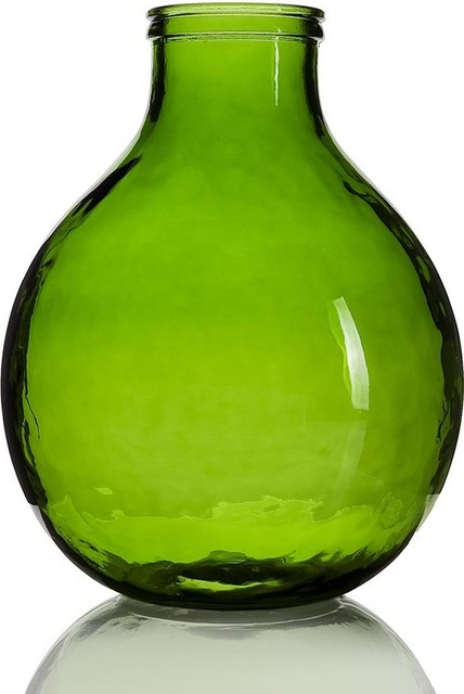 Decorating small guest bathrooms - Garrafa Green Vase Small Contemporary Vases By Domayne Online