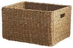 WOVEN RECTANGLE BASKET - LARGE eclectic-baskets
