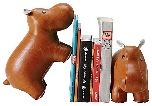 Menagerie Bookend, Hippo contemporary accessories and decor