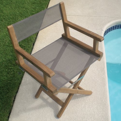 Royal Teak Folding Director Chair Contemporary Outdoor Chairs By Hayneedle