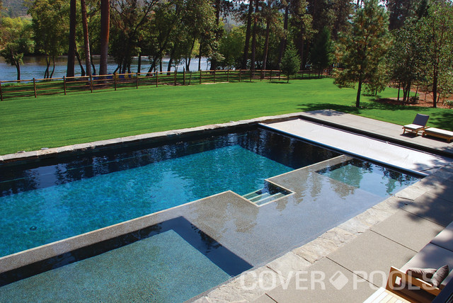 Cover pools automatic pool covers - Modern swimming pool ...