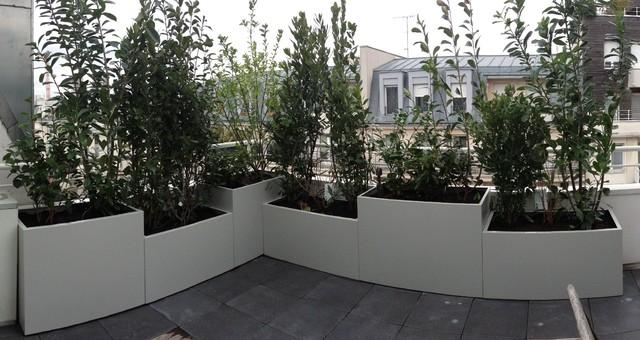 jardini res sur mesure en m tal thermolaqu moderne pot et jardini re d 39 ext rieur other. Black Bedroom Furniture Sets. Home Design Ideas