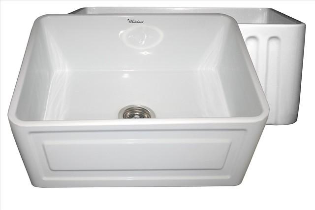 Whitehaus Whflcon2418-Black Reversible Sink contemporary-kitchen-sinks
