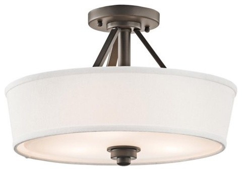 Enjoy a warm, radiant atmosphere at home, with the Kichler Glissade 4244 contemporary-ceiling-lighting