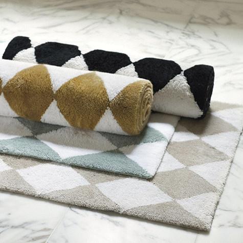 Harlequin Bath Rug contemporary-bath-mats