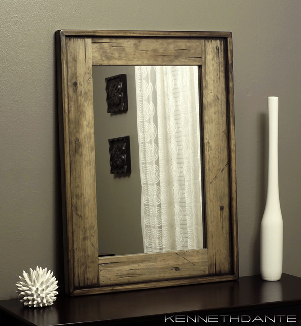 Bathroom Mirrors Wood Perfect Black Bathroom Mirrors Wood Images