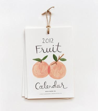 2012 Fruit Calendar traditional-home-decor