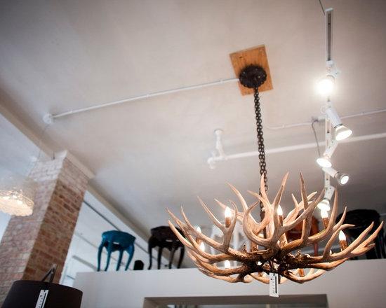 Lighting - Resin antler chandelier