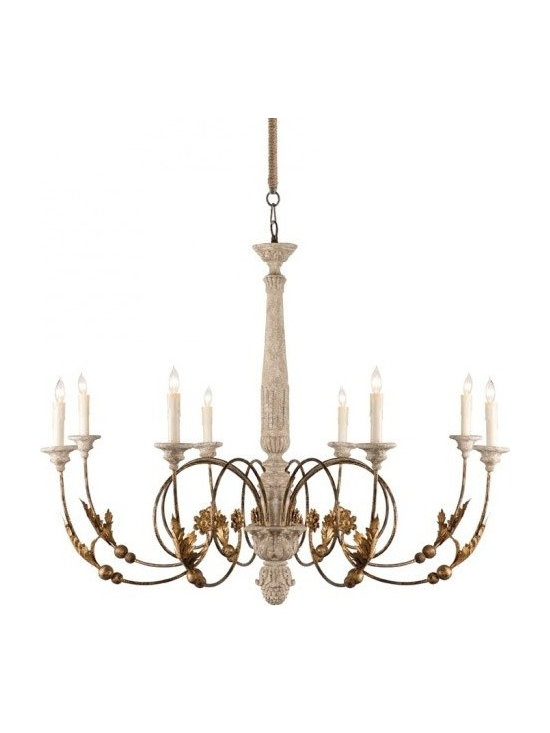 Aidan Gray Pauline Chandelier - This high Italian Chandelier is dramatic and oversize to setting the tone for the room built around it.