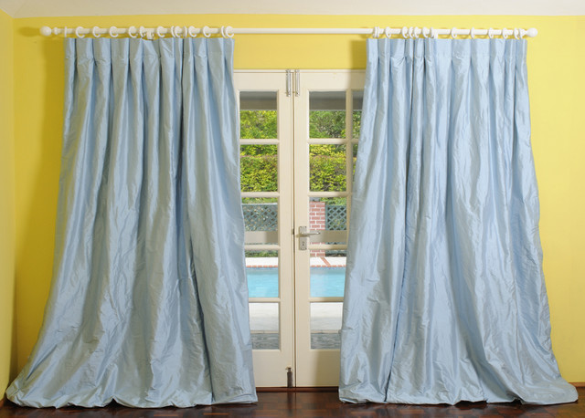 Dupioni Silk Drapes - traditional - curtains - new york - by ...