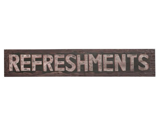 Refreshments Sign -