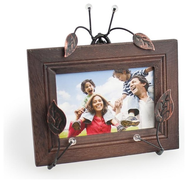 Easel Photo Frame with Twiggs and Leaves - Contemporary - Picture Frames - by ivgStores