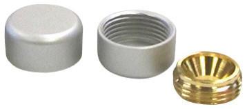 5 8 X 5 16 Decorative Screw Cover Caps Brass Satin