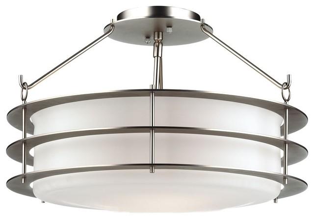 "Art Deco Forecast Hollywood Hills Silver 18"" Ceiling Light ..."