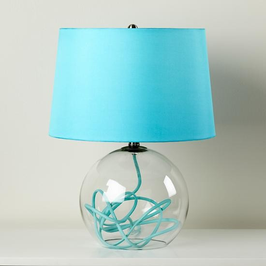 crystal ball table lamp aqua contemporary table lamps by the. Black Bedroom Furniture Sets. Home Design Ideas