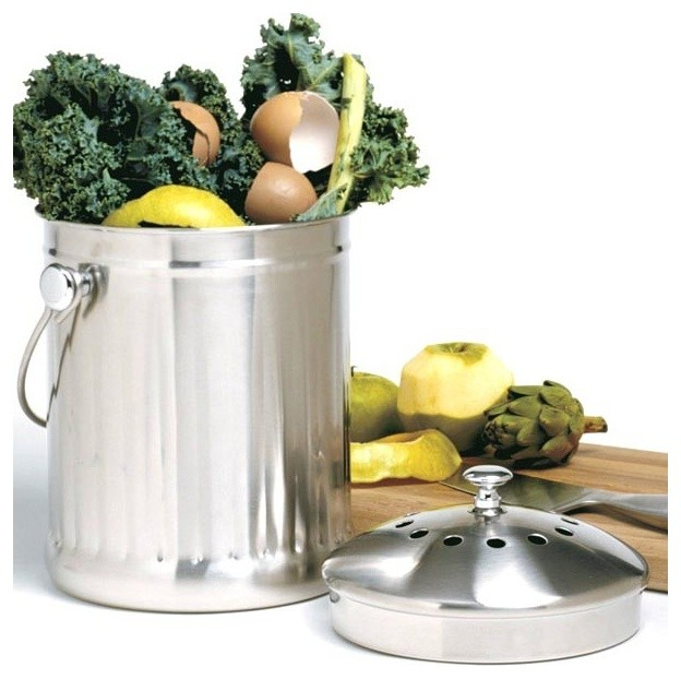 Grip EZ Stainless Steel Compost Keeper contemporary-compost-bins