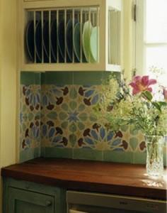 Cement Tile Backsplash Brightens Kitchen eclectic-kitchen