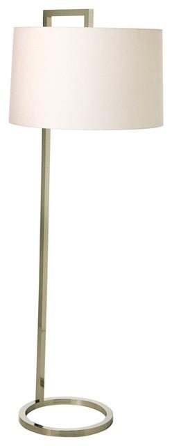 Contemporary Arteriors Home Belden Polished Nickel Floor Lamp contemporary-floor-lamps