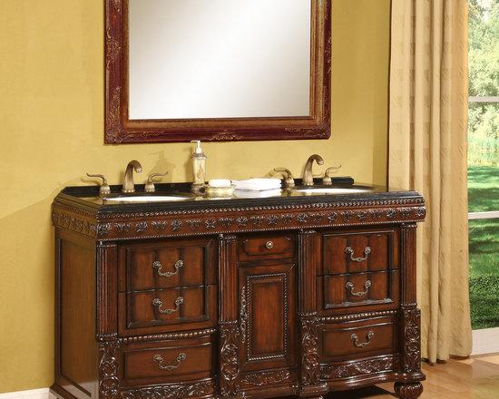 "B&I - B&I Direct 60"" Bathroom Vanity, Bradford - HomeThangs.com - B&I Direct 60"" Bathroom Vanity, Bradford 1310AS"