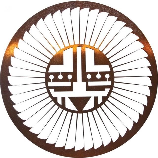 "Southwest Native American Metal Wall Art Kachina Sun 24"" Copper - Rustic - Artwork - by ..."
