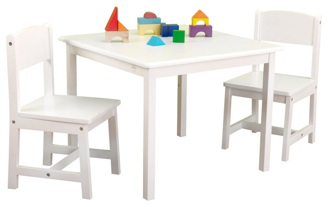 aspen table and chair set white by kidkraft modern kids tables and chairs by the. Black Bedroom Furniture Sets. Home Design Ideas