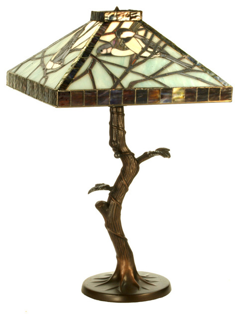"""Meyda Lighting 62945 22""""H Backyard Friends Crooked Tree Table Lamp traditional-table-lamps"""