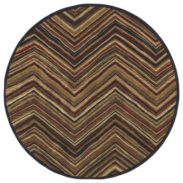 Contemporary tommy bahama home round 7 39 round multi area for Round contemporary area rugs