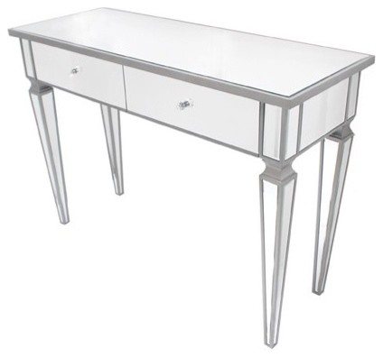 Yves Mirrored Console Table - contemporary - side tables and ...