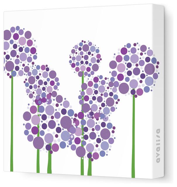 Imagination Allium Stretched Wall Art, Purple modern-kids-decor