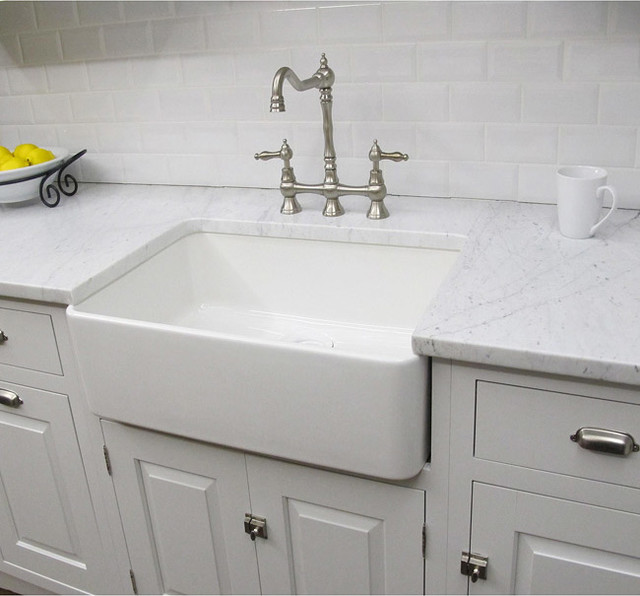 Modern Sinks For Kitchen : ... 23.25-inch White Farmhouse Kitchen Sink contemporary-kitchen-sinks
