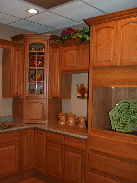 Cinnamon Oak Kitchen Cabinets Home Design  Traditional  Kitchen
