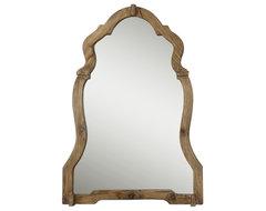 Agustin Light Walnut Mirror farmhouse-mirrors