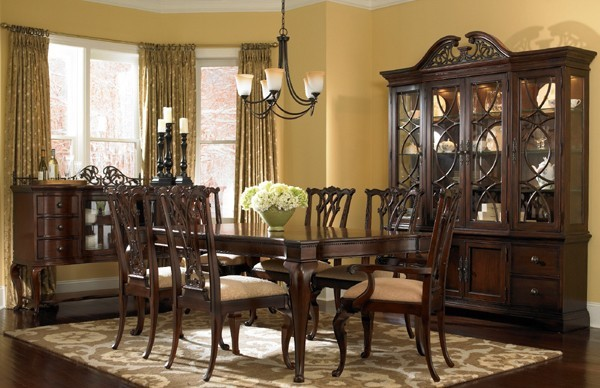 Leg Dining Room Set ART 191235 2106 ROOM Traditional Dining Tables