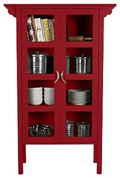 Ruby Glass Cabinet contemporary-storage-cabinets