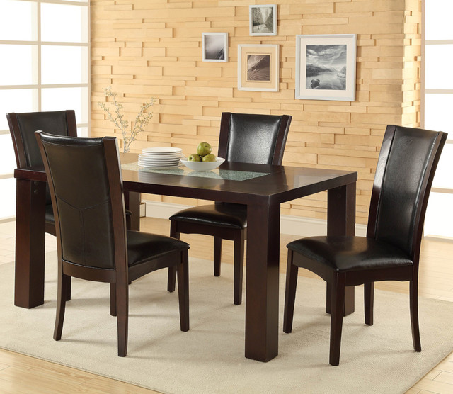 Homelegance Lee 5 Piece Dining Room Set with Crackle Glass  : traditional furniture from www.houzz.com size 640 x 556 jpeg 97kB