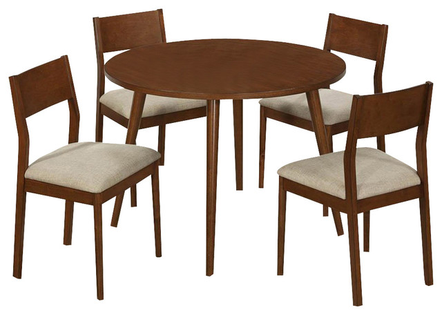 Monarch specialties 1810 5 piece round dining room set in for Traditional round dining room sets