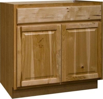 Hampton Bay 36x34.5x24 in. Sink Base Cabinet in Natural Hickory KSB36-NHK - Contemporary ...