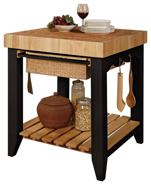 attractive Rolling Butcher Block Kitchen Cart #6: Galvanized Pipe Furniture Butcher Block Rolling Kitchen