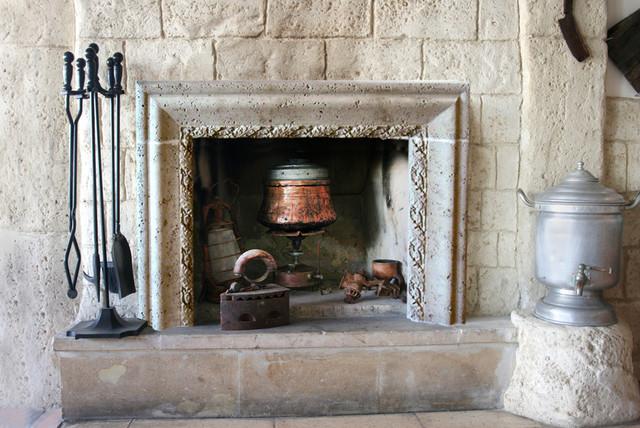Rococo Fireplace Mantel mediterranean-family-room